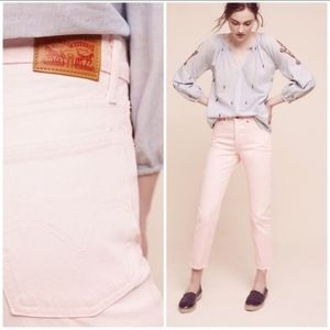 Levi's by Anthropologie Soft Pink Wedgie Fit 25